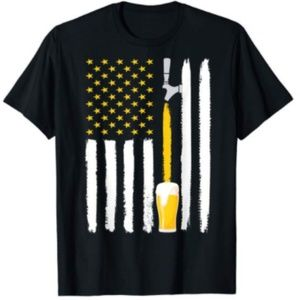 Craft Beer American Flag USA T-Shirt